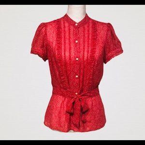 LOFT women's floral blouse size 6